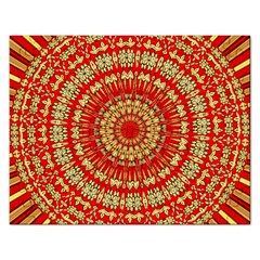 Gold And Red Mandala Rectangular Jigsaw Puzzl