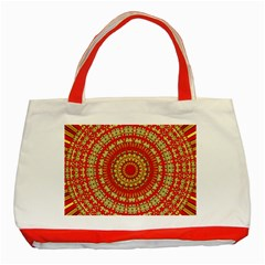 Gold And Red Mandala Classic Tote Bag (red)