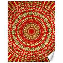 Gold And Red Mandala Canvas 12  X 16