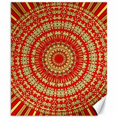 Gold And Red Mandala Canvas 20  X 24