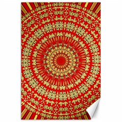 Gold And Red Mandala Canvas 20  X 30