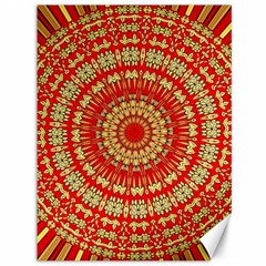 Gold And Red Mandala Canvas 36  X 48