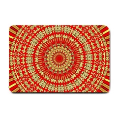Gold And Red Mandala Small Doormat