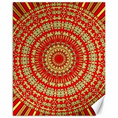 Gold And Red Mandala Canvas 11  X 14