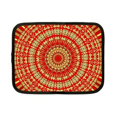 Gold And Red Mandala Netbook Case (Small)