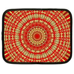 Gold And Red Mandala Netbook Case (large)