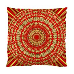 Gold And Red Mandala Standard Cushion Case (one Side)