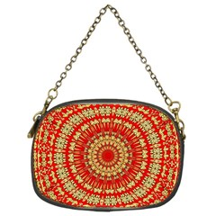 Gold And Red Mandala Chain Purses (Two Sides)