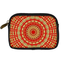 Gold And Red Mandala Digital Camera Cases