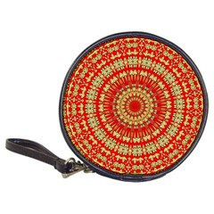 Gold And Red Mandala Classic 20 Cd Wallets