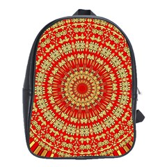 Gold And Red Mandala School Bags(large)