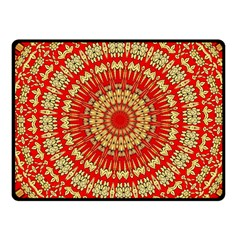 Gold And Red Mandala Fleece Blanket (small)