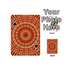 Gold And Red Mandala Playing Cards 54 (mini)