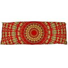 Gold And Red Mandala Body Pillow Case Dakimakura (two Sides)