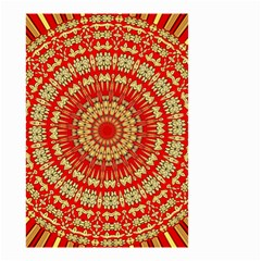 Gold And Red Mandala Small Garden Flag (two Sides)