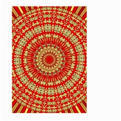 Gold And Red Mandala Large Garden Flag (two Sides)