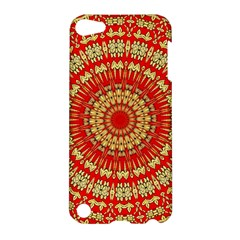 Gold And Red Mandala Apple Ipod Touch 5 Hardshell Case