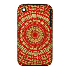 Gold And Red Mandala Iphone 3s/3gs