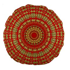Gold And Red Mandala Large 18  Premium Round Cushions
