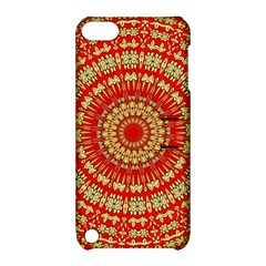 Gold And Red Mandala Apple Ipod Touch 5 Hardshell Case With Stand