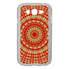 Gold And Red Mandala Samsung Galaxy Grand Duos I9082 Case (white)