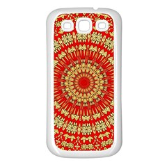 Gold And Red Mandala Samsung Galaxy S3 Back Case (white)