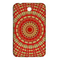 Gold And Red Mandala Samsung Galaxy Tab 3 (7 ) P3200 Hardshell Case