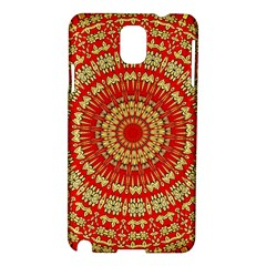 Gold And Red Mandala Samsung Galaxy Note 3 N9005 Hardshell Case