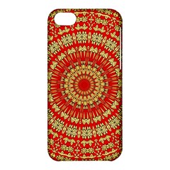 Gold And Red Mandala Apple Iphone 5c Hardshell Case