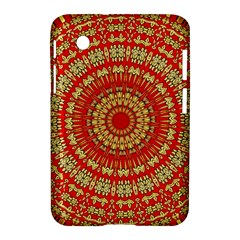Gold And Red Mandala Samsung Galaxy Tab 2 (7 ) P3100 Hardshell Case