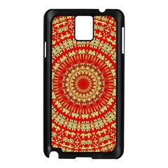 Gold And Red Mandala Samsung Galaxy Note 3 N9005 Case (black)