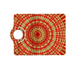 Gold And Red Mandala Kindle Fire Hd (2013) Flip 360 Case