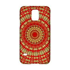 Gold And Red Mandala Samsung Galaxy S5 Hardshell Case
