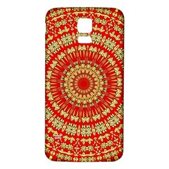 Gold And Red Mandala Samsung Galaxy S5 Back Case (white)
