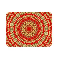 Gold And Red Mandala Double Sided Flano Blanket (Mini)