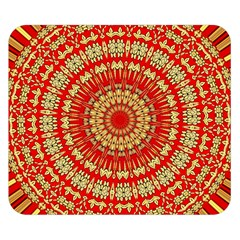 Gold And Red Mandala Double Sided Flano Blanket (small)