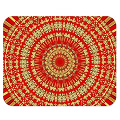 Gold And Red Mandala Double Sided Flano Blanket (medium)