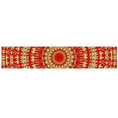 Gold And Red Mandala Flano Scarf (large)