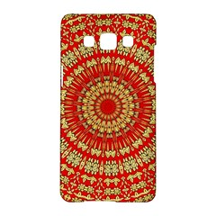 Gold And Red Mandala Samsung Galaxy A5 Hardshell Case
