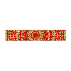 Gold And Red Mandala Flano Scarf (mini)
