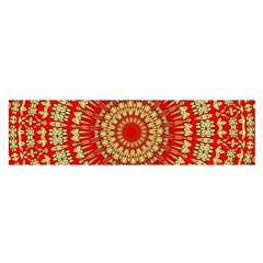 Gold And Red Mandala Satin Scarf (oblong)