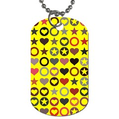 Heart Circle Star Seamless Pattern Dog Tag (two Sides)
