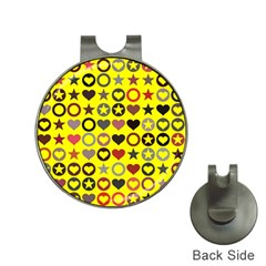 Heart Circle Star Seamless Pattern Hat Clips With Golf Markers