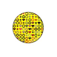 Heart Circle Star Seamless Pattern Hat Clip Ball Marker