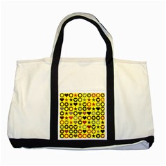Heart Circle Star Seamless Pattern Two Tone Tote Bag
