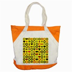 Heart Circle Star Seamless Pattern Accent Tote Bag