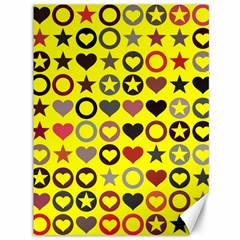 Heart Circle Star Seamless Pattern Canvas 36  X 48