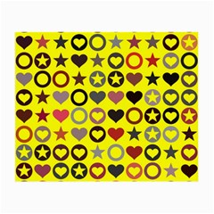 Heart Circle Star Seamless Pattern Small Glasses Cloth (2 Side)