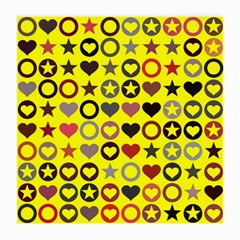 Heart Circle Star Seamless Pattern Medium Glasses Cloth (2 Side)