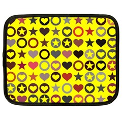 Heart Circle Star Seamless Pattern Netbook Case (xxl)